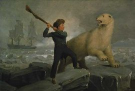 The young Nelson takes on a polar bear