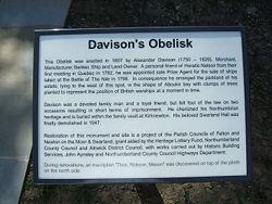 Davison's Obelisk plaque