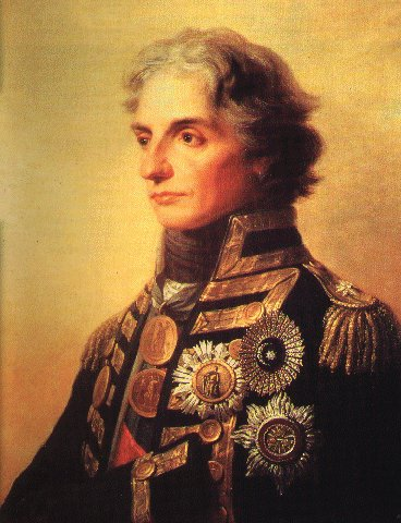 Portrait of Nelson painted by the German artist F.G. Fuger.